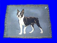 Boston Terrier blanket tapestry throw