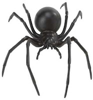 black widow spider toy miniature
