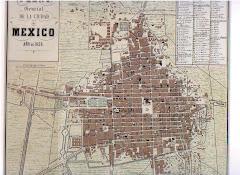Mapa de la Ciudad de México de 1858