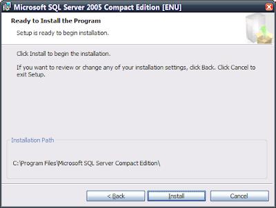 Finální verze Microsoft SQL Server 2005 Compact Edition