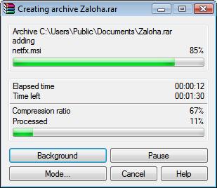 WinRAR 2.7 beta 1 - příprava na Windows Vista