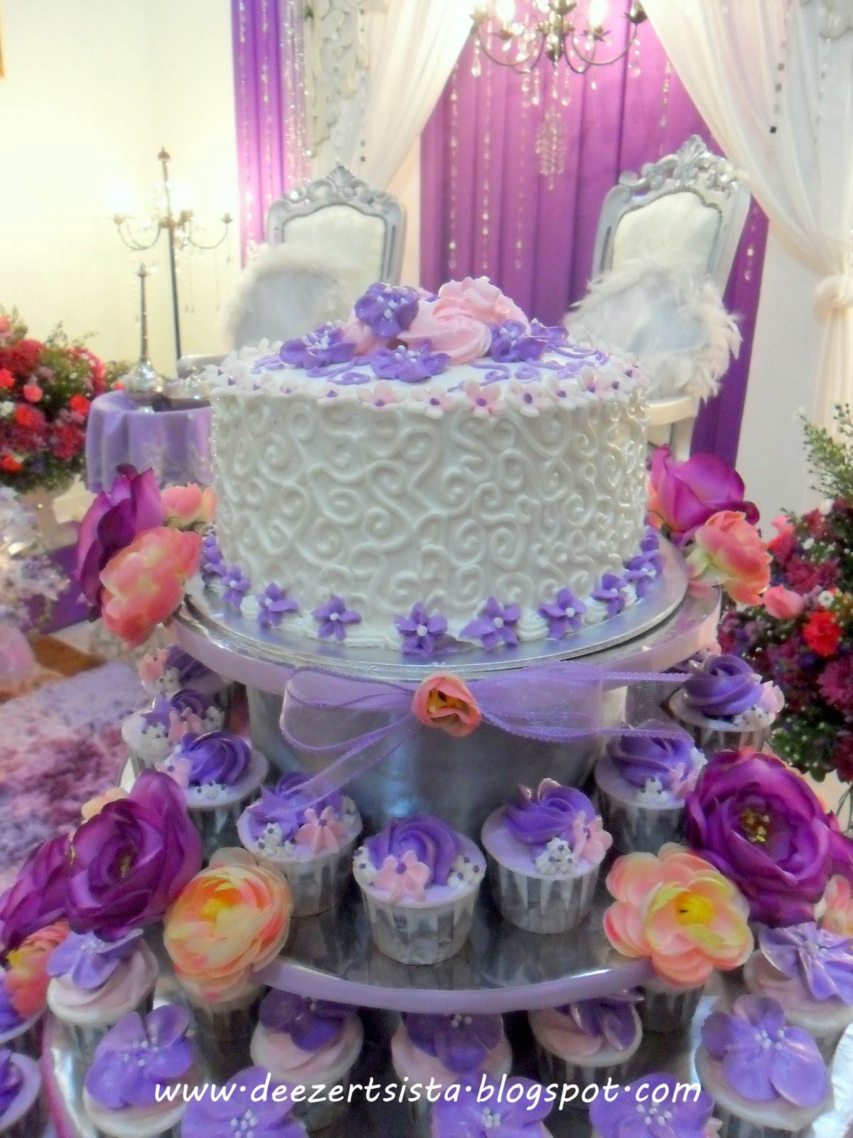 Deezert Sista By Dalila Amp Zaihan Wedding Tiered Cake