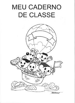 Capa Caderno De Classe Turma Da Monica Desenhos Para Colorir