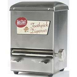 Retro home decor news and classic videos january 2008 - Stainless steel toothpick dispenser ...