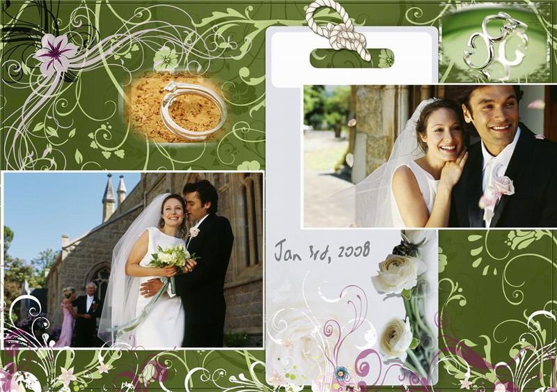 DIGITAL SCRAPBOOKING WEDDING