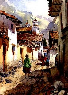 Street Scene, Lima Peru (Wilfredo Castelo Luza 1954- )