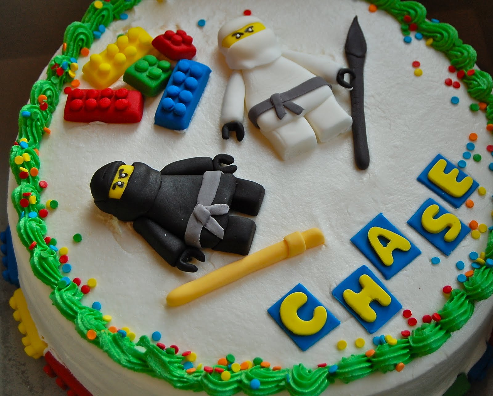 Chef Mommy Ninja Lego Cake