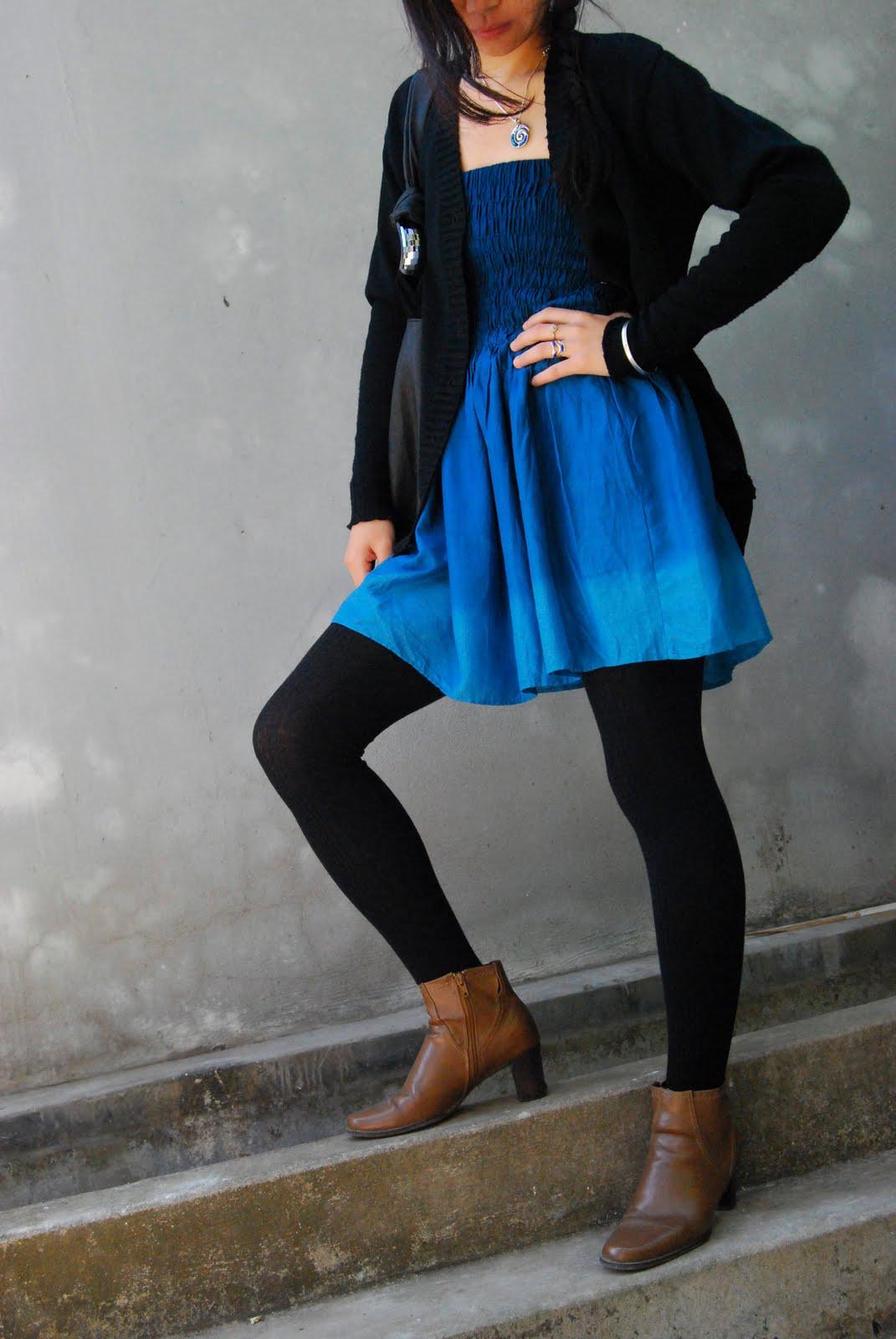 Blue Slacks Brown Shoes