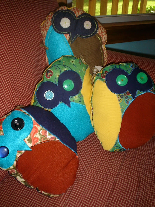 Owl Pillows - $20