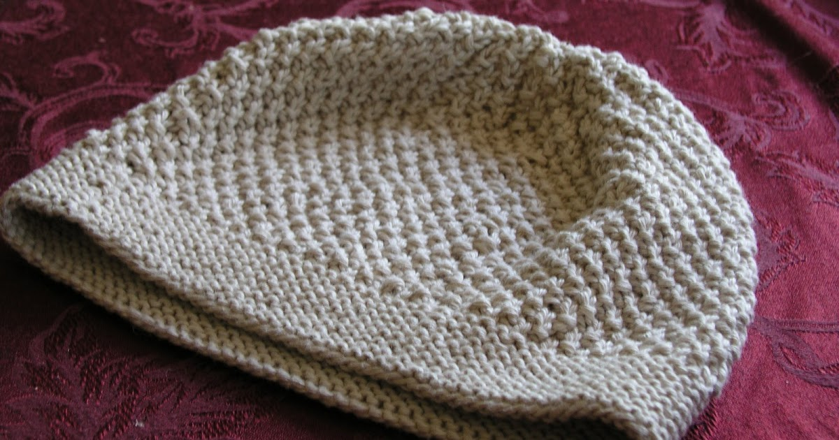 Moss stitch beanie for beginner - Pattern Central - KnittingHelp ... 7bfe6ecc443