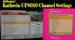 Se actualiza el listado de canales con soporte 4 LNB para UFS910