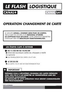 Canal + CanalSat cambia de tarjetas a sus abonados