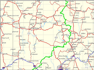 Great Divide Mountain Bike Route Tour 2007: 2nd Half Map Detail ...