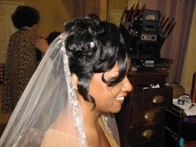 African American Wedding Hairstyles & Hairdos: Lovely