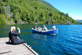 Lake Tinquilco Chile boat