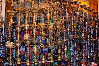 Water Pipes Khumel Khalili Market Islamic Cairo Egypt