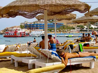 Sunning Naama Bay Red Sea Sharm el Shiekh Egypt Beach Bikini