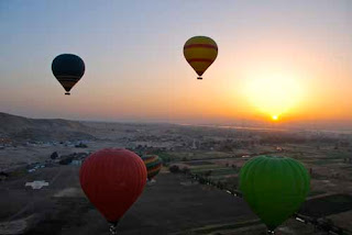 Sunrise Hot Air Balloon Ancient Egyptian Sites Egypt