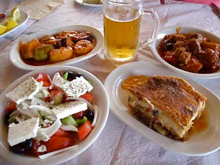Greek Food Santorini Greece