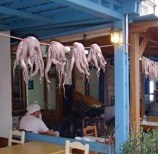 Taverna Octopus Calamari Naxos Greece