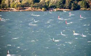 Wind Surfing Hood River Oregon USA