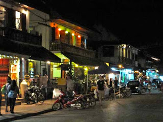 Main Street Night Luang Prabang Laos