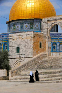 Muslim Women Temple Mount Jerusalem Israel
