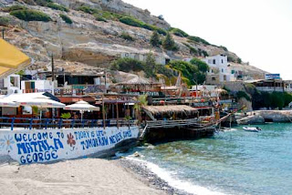 Hippy Sign Matala Crete Greece