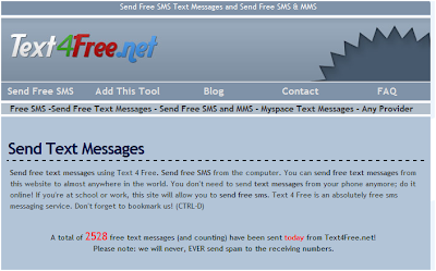 Send SMS Worldwide for FREE- FREE SMS websites POPULAR list