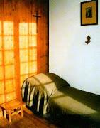 Esta é a cela que a Santa vivia.