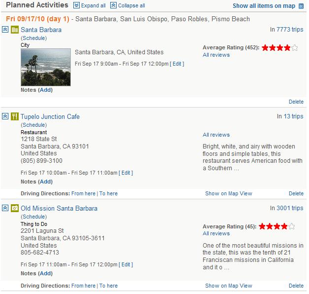 Quaintly Garcia: Road Tripping: Yahoo Trip Planner