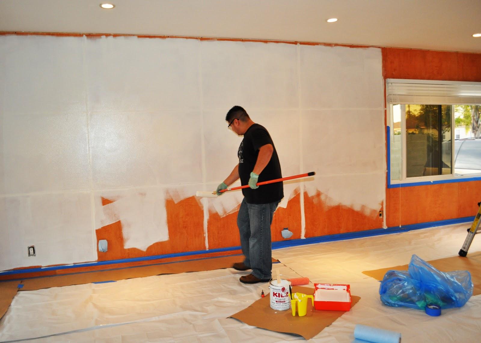 Quaintly Garcia: DIY: Painting Wood Paneling