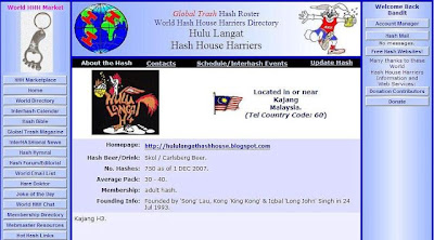 HLH4 page on World Hash House Harriers Directory