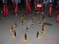 Mandarin oranges and beer