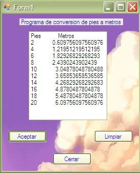 Programación 1 Practica 44 Pies A Metros