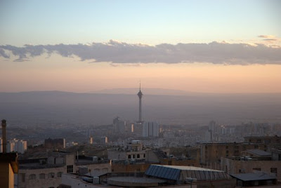 View of Tehran with Milad Tower