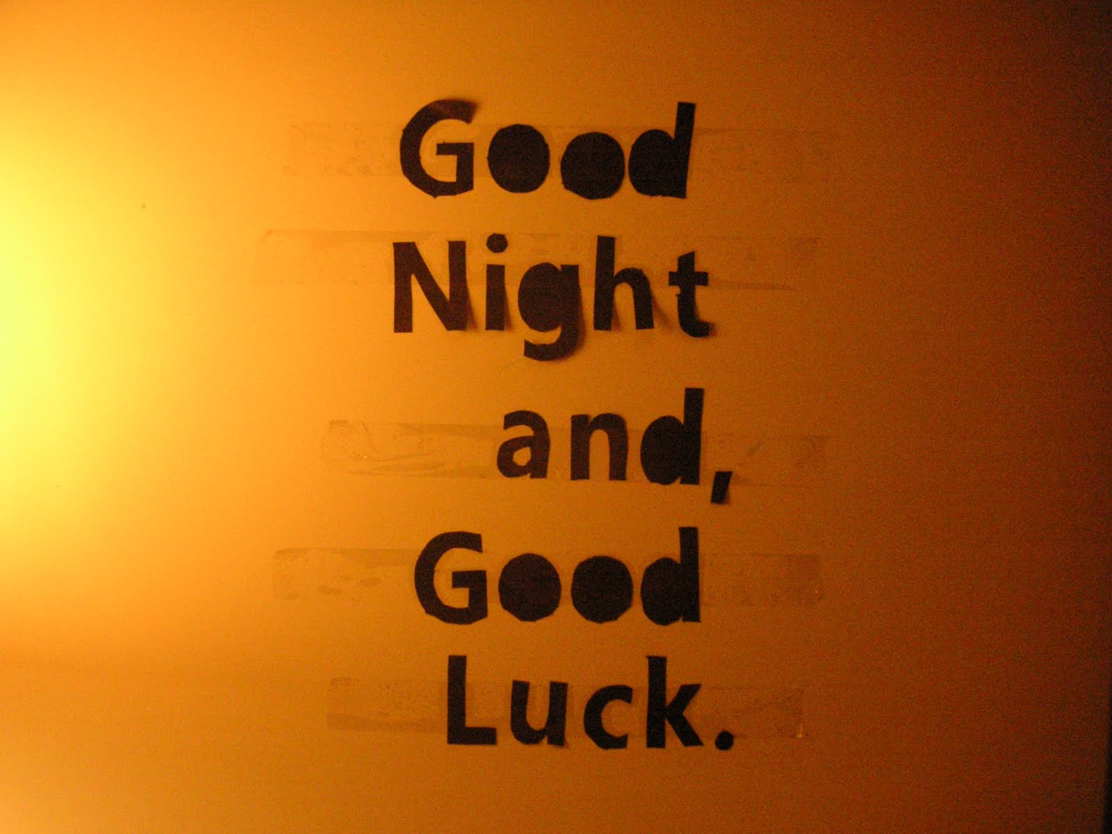 Good night and good luck essay