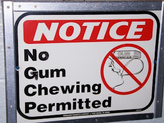 no gum chewing permitted
