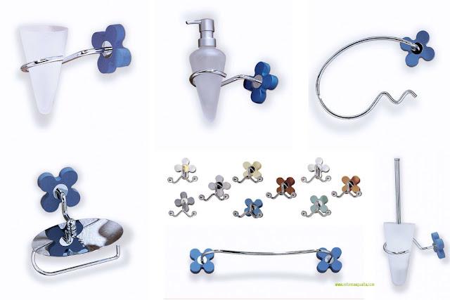 accesorio baño azul