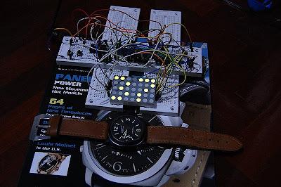 Big 5x7 Led Dot Matrix Clock with new font   PIC