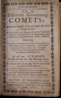 """A title page for """"Kometographia, or, A Discourse Concerning Comets."""""""