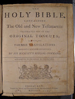 The title page for a 1795 edition of the Holy Bible.