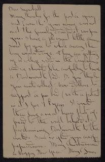 A handwritten letter.