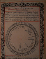 A page printed in black with red accents, showing a moveable table showing the Sundays in a year.