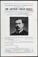 A poster advertising a series of lectures by Sir Arthur Conan Doyle.