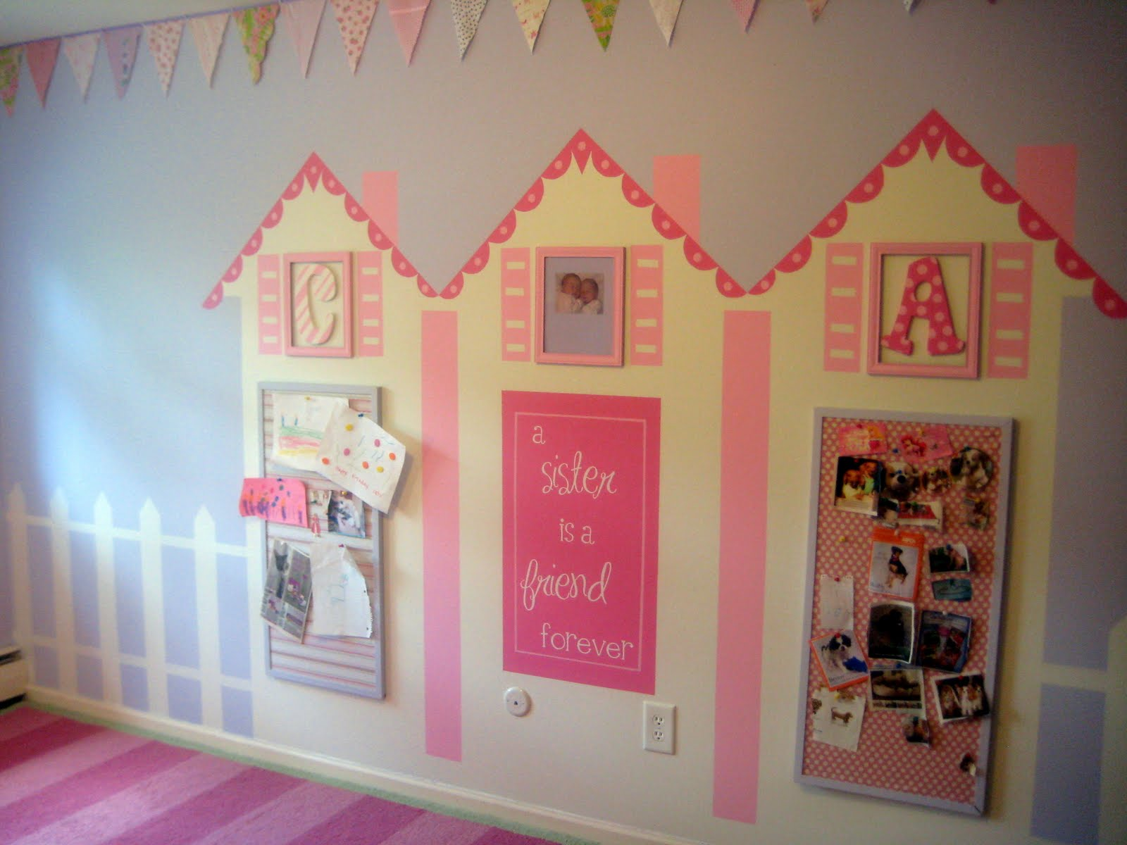 Remodelaholic murals for kids rooms guest for Girls murals