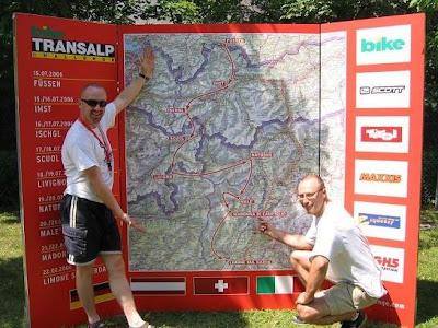 Transalp Challenge 2006 Route Map