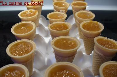 recettes dessert  Petit cornet au sucre
