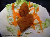 recettes plats  Wrap au poulet