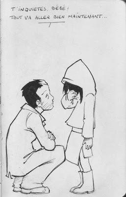 Père - le droit d'aimer et d'être aimé - Xavier Fortin dans actualité arrete_de_pleurer_bw